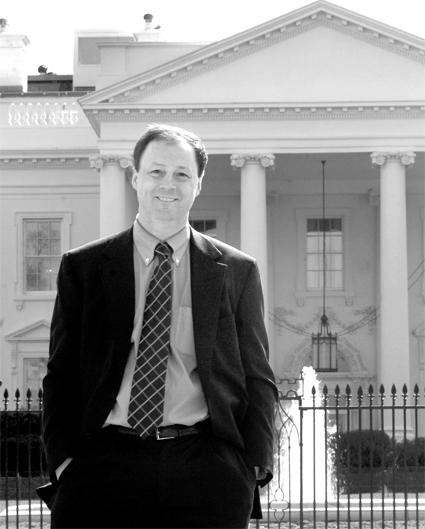 John F. Harris Author Photo in front of White House
